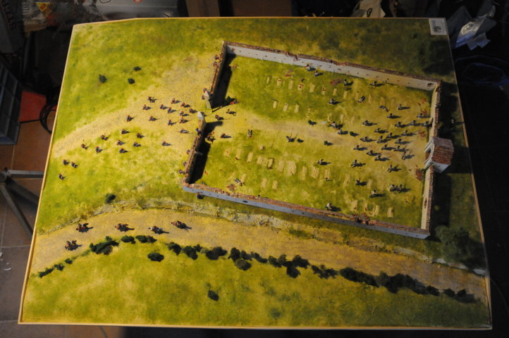 Battaglia di Solferino - vista totale del diorama