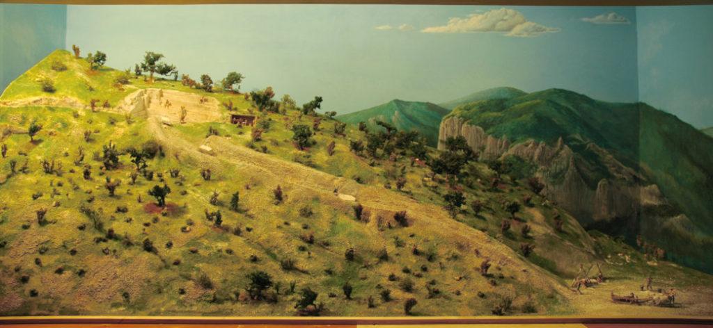 Cava storica del Furlo - vista totale diorama