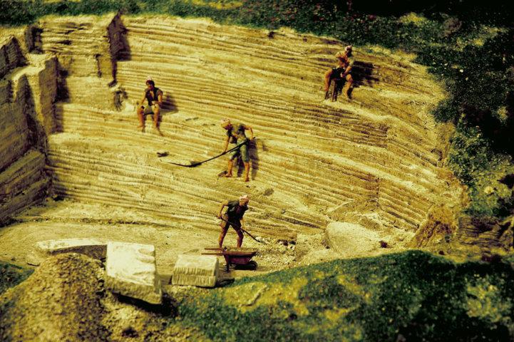 Cava storica del Furlo - particolare della zona di Cava