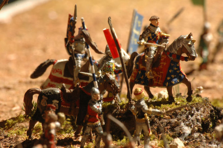 Battaglia di Azincourt decorazione figurini