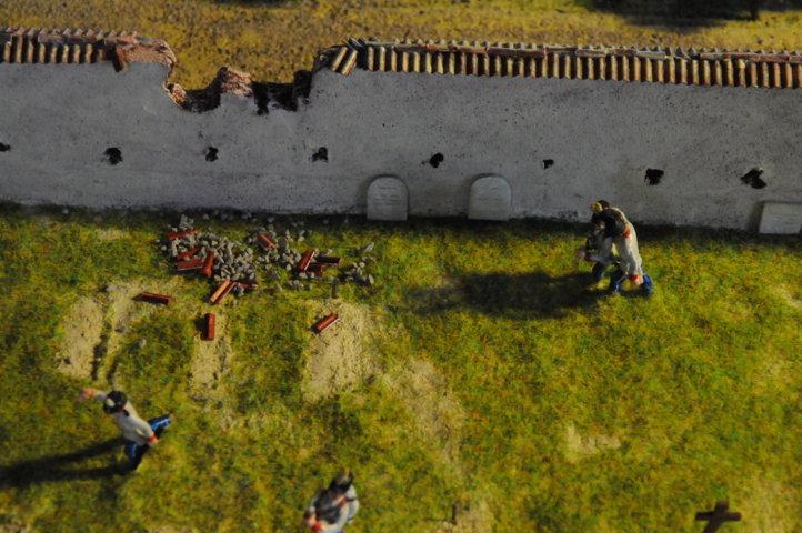 Battaglia di Solferino -  Il trasporto di un ferito