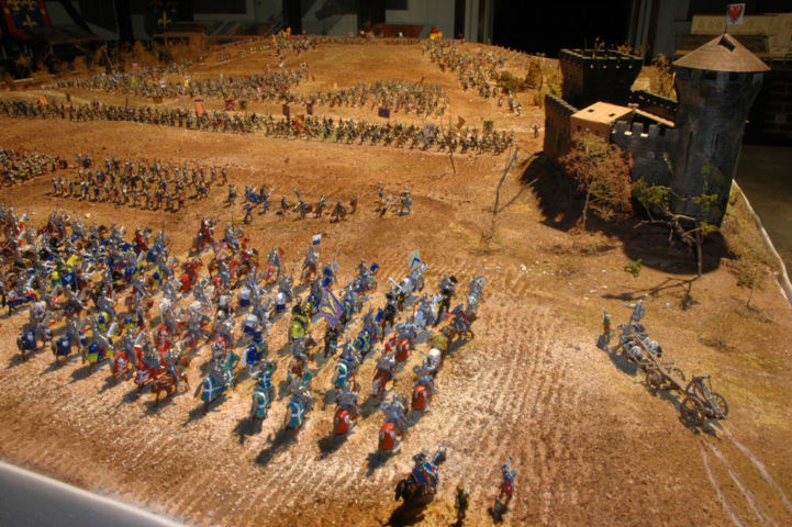 Battaglia di Azincourt -  La cavalleria francese