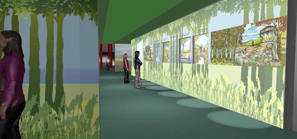 Vista parete didattica - museo Trasimeno - progettare un museo