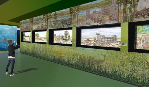 Vista parete storico didattica acquario del Trasimeno