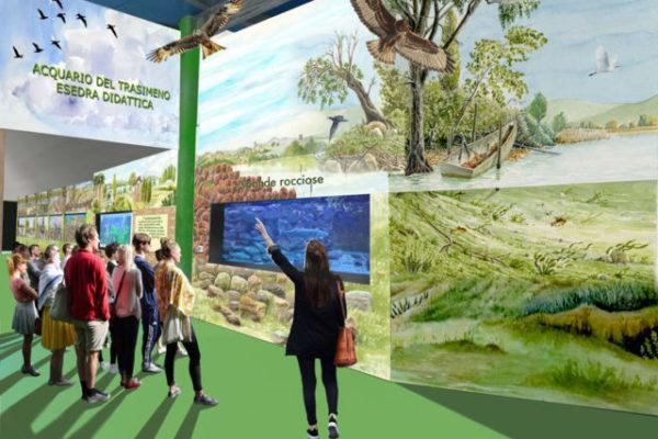 Vista percorso acquario - museo Trasimeno
