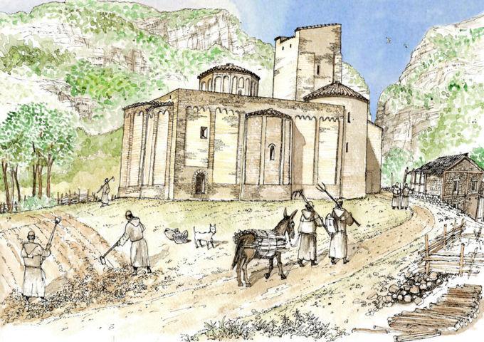 abbazia di san vittore alle chiuse ( X sec.)
