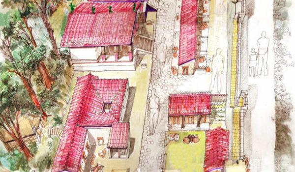 bozzetto città etrusca in miniatura