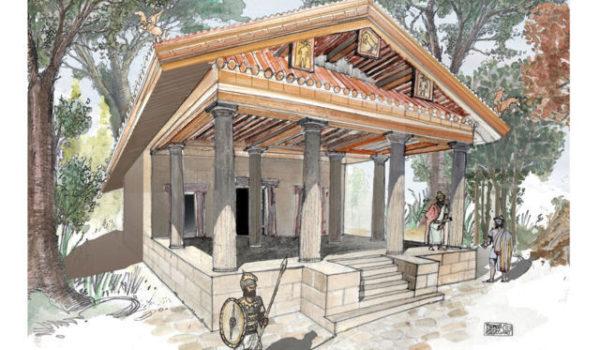 bozzetto tempio etrusco