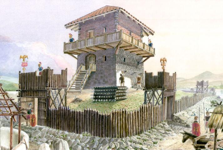 castrum e torre di Novum Clusium