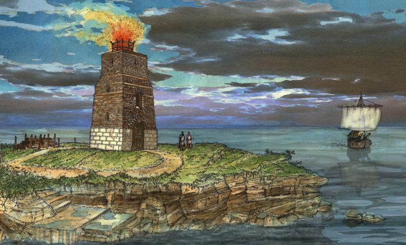 faro romano tardo antico, torre Guaceto