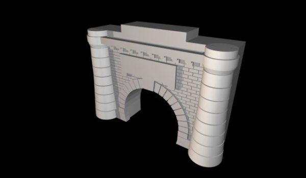 modello del tunnel del frejus