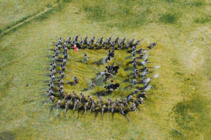 Battaglia di Custoza Villafranca - il quadrato intorno al principe Umberto