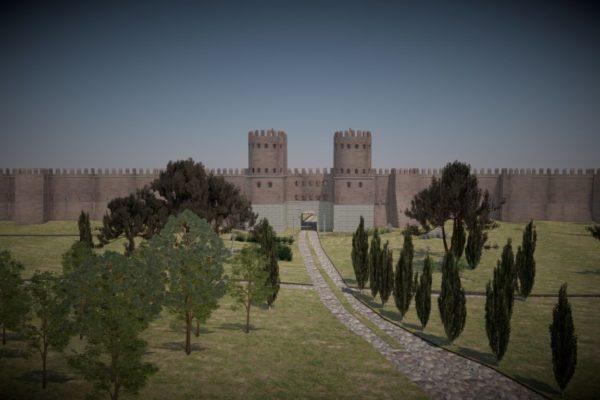 Ricostruzione 3d Mura aureliane