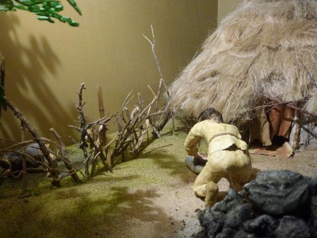 Capanna del Neolitico particolare diorama
