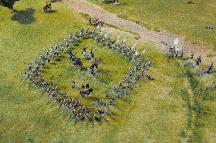 Battaglia di Custoza Villafranca - Quadrato con principe Umberto