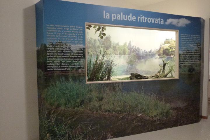 Vista totale del diorama del Lago di Serranella