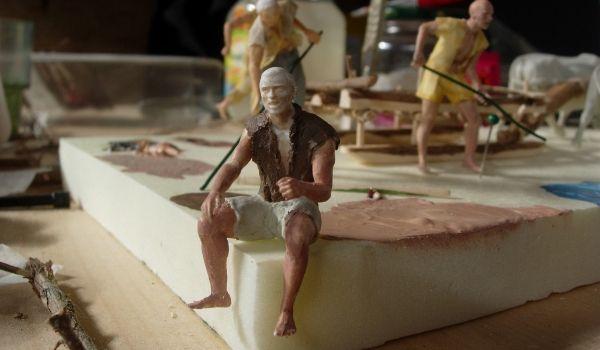 modello di un agricoltore realizzato a mano