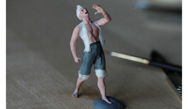 modelli di persone realizzati a mano in lavorazione - realizzare un diorama